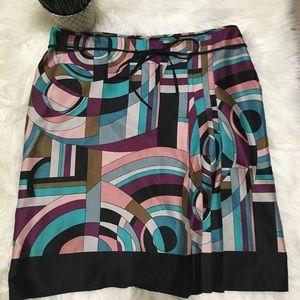 Monsoon Geometric Skirt with Pleats
